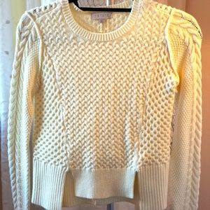 1.State Cable Knit Cream Sweater